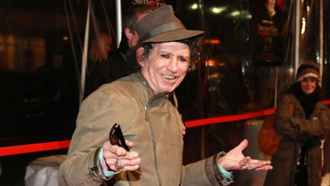 Richards en el estreno de la película 'Swenney Todd'.