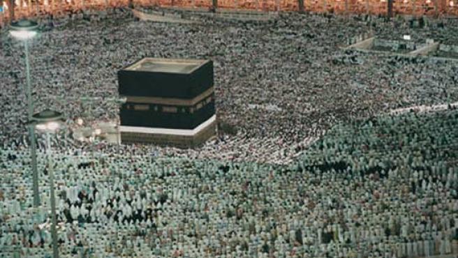 Musulmanes reunidos en una de las peregrinaciones a la Kaaba.