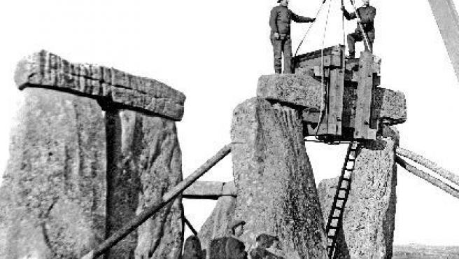Foto de la excavación realizada en el año 1964.