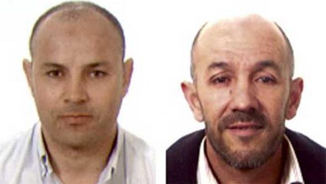 Los dos detenidos Alí Aarass y Mohamed El Bay. (EFE)