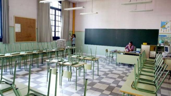 Un profesor en una clase.