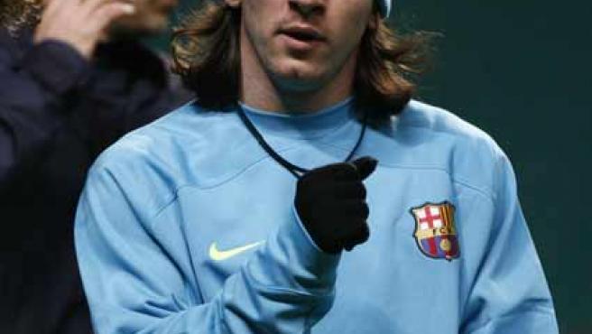 Messi podría quedarse en el banquillo (Reuters).