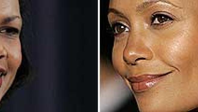 Condoleezza Rice y Thandie Newton.