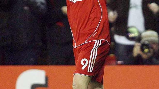 Fernando Torres celebra la victoria del Liverpool. (AP)
