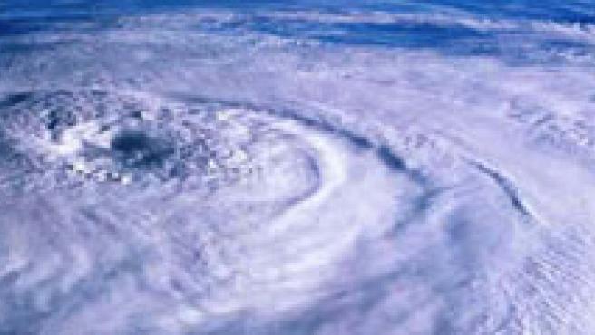 Instantánea del inicio de la formación de un huracán.