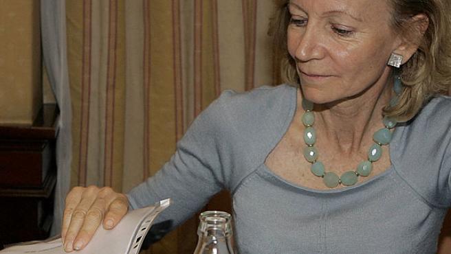 La ministra Salgado presenta el plan contra la cocaína (BERNARDO RODRÍGUEZ / EFE).