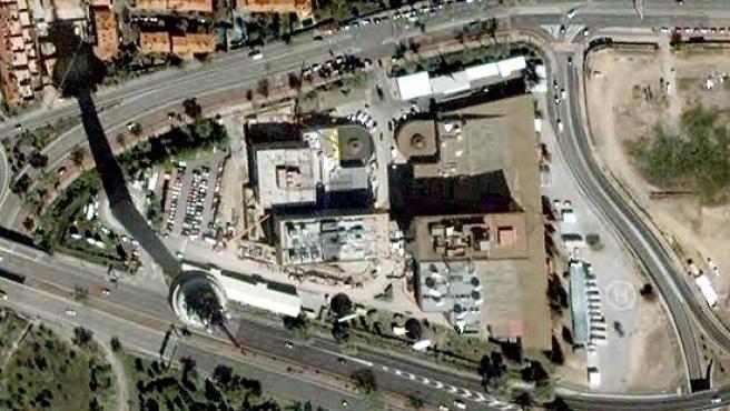 Las instalaciones de TVE de Torrespaña, en la calle O'Donnel de Madrid.