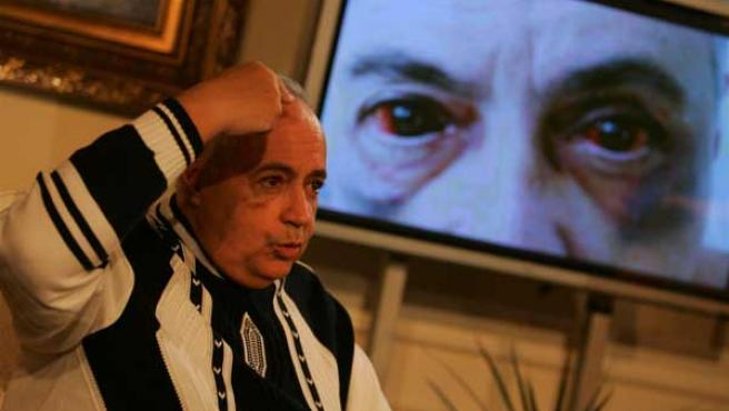 José Luis Moreno, en la rueda de prensa que dio para explicar cómo le asaltaron en su casa. (ARCHIVO)