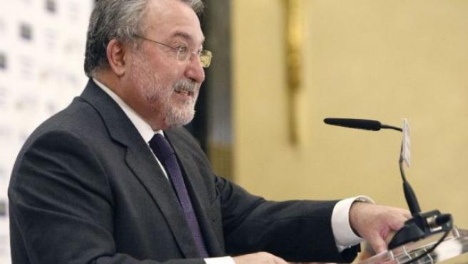 El ministro de Sanidad, Bernat Soria, durante la rueda de prensa (EFE).