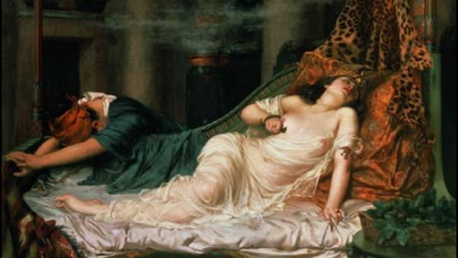 Cleopatra y Marco Antonio fueron enterrados en un templo de Alejandría. (ARCHIVO)