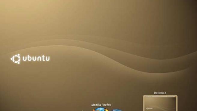Imagen de una de las versiones de prueba de Ubuntu 8.04.
