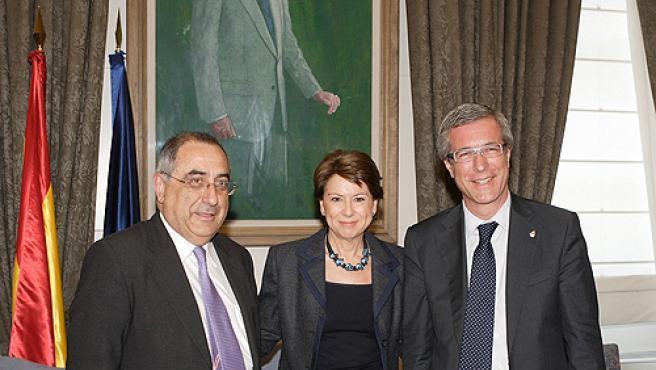 Joaquim Nadal, Magdalena Álvarez y Josep Fèlix Ballesteros.