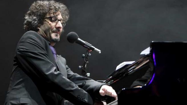 Fito Páez, durante un momento del concierto.