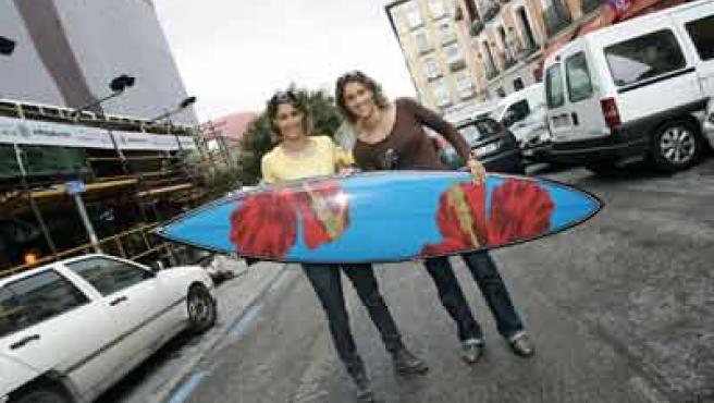 Las gemelas Ruano, Iballa y Daida, campeonas del mundo de windsurf.