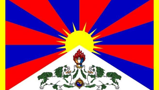 La bandera de Tíbet. (WIKIMEDIA)