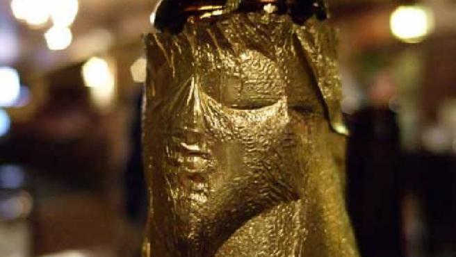 Imagen de Jesucristo en un botellín.