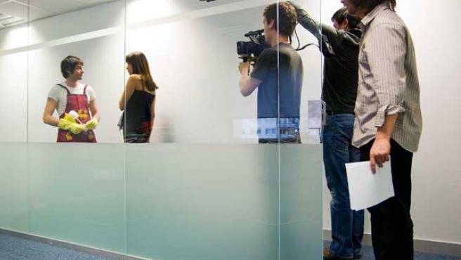 Uno de los rodajes de la serie 'Amor Sobrenatural'.