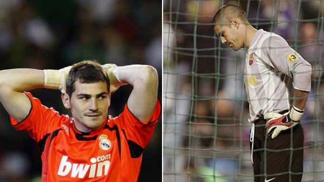 Iker Casillas y Víctor Valdés (AGENCIAS)