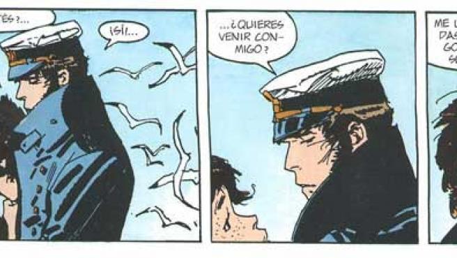 Imagen de las aventuras de Corto Maltés, creado por Hugo Pratt.