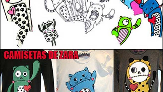 Una estudiante de dibujo denuncia que Zara le plagia. (Foto ESDIP.com)