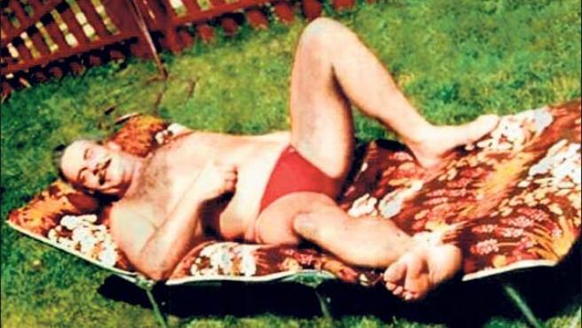 Josef Fritzl, en unas de sus famosas vacaciones. (THE SUN)