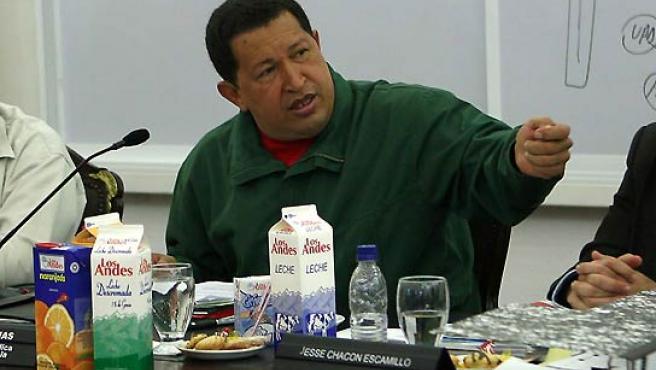 Hugo Chávez, en una visita a Bogotá. (EFE).