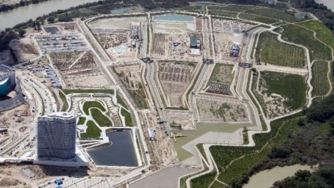 Vista aérea del Parque Metropolitano del Agua.