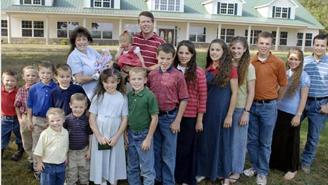 La familia Duggars, al completo.