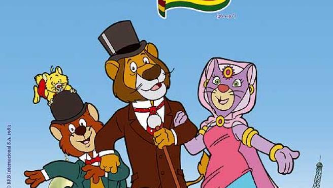 Willy Fog acompañado de sus amigos viajantes.