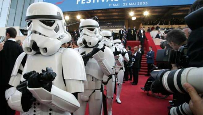 Los soldados imperiales de 'La venganza de los Sith' tomaron el Festival de Cannes 2005.