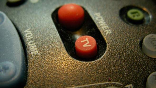 Detalle de un mando a distancia.