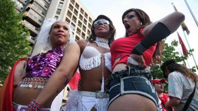 Participantes en el último desfile del Día del orgullo Gay de Madrid. ARCHIVO