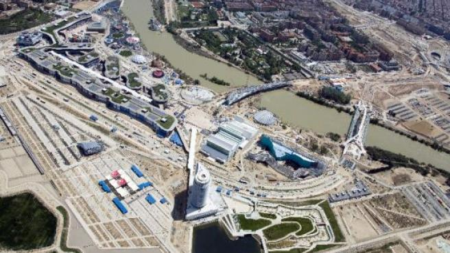 Vista aérea del recinto de la Expo en Ranillas.