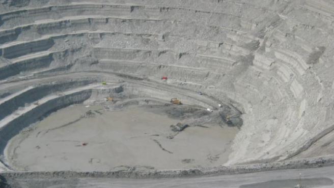 Vista aérea de la mina Cobre Las Cruces.