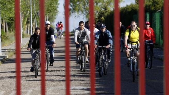 Los reclusos salen de la prisión de Villanubla.