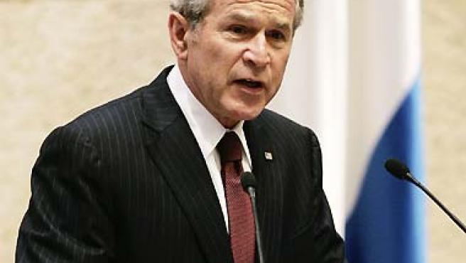 George W. Bush, durante su reciente discurso en Israel. (Larry Downing / Reuters).