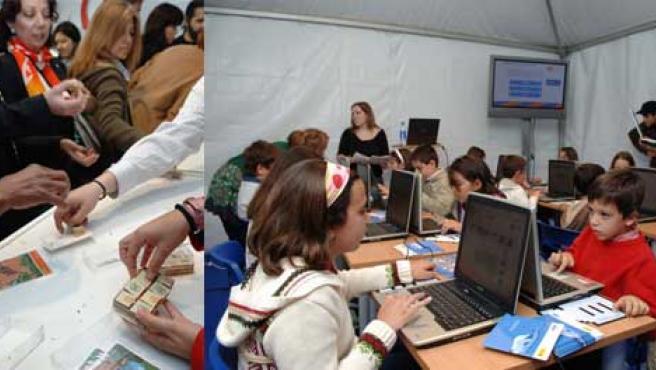 Celebraciones durante el Día de Internet. (JAVIER LOBATO)