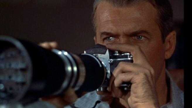 James Stewart en 'La ventana indiscreta', de Alfred Hitchcock.