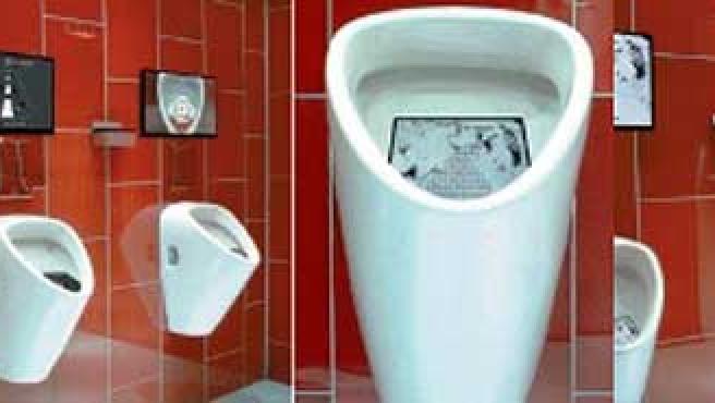 Urinarios con el videojuego incorporado.