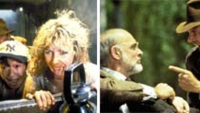Imágenes de las cuatro entregas de Indiana Jones.