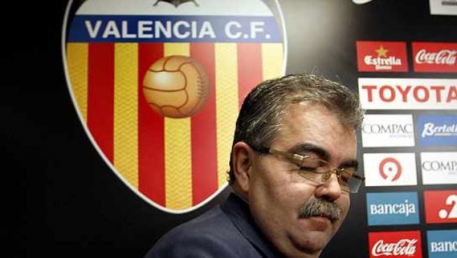 Juan Soler, momentos antes de la rueda de prensa. (Efe)