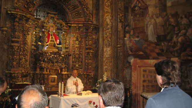 Celebración de la misa de agradecimiento del Numancia al patrón San Saturio