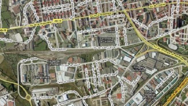 El pasadizo se consturirá en la zona de Los Campones.