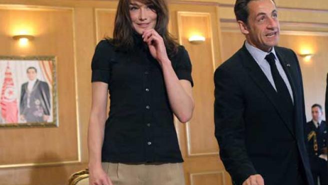 La ex modelo, cantante y mujer de Nicolas Sarkozy, Carla Bruni.