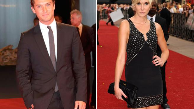 Jude Law y Kimberly Stewart ©KORPA