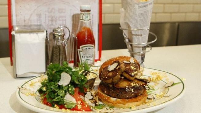 La hamburguesa más cara de Nueva York.