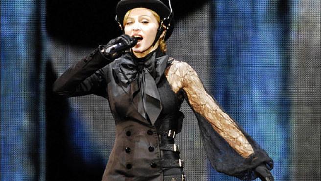 Madonna, en un imagen de archivo tomada durante un concierto en Hannover (Foto: KORPA).