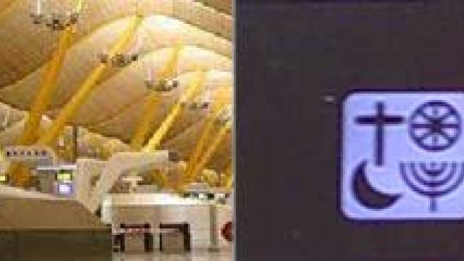 El aeropuerto de Barajas tiene oratorios para todas las religiones.