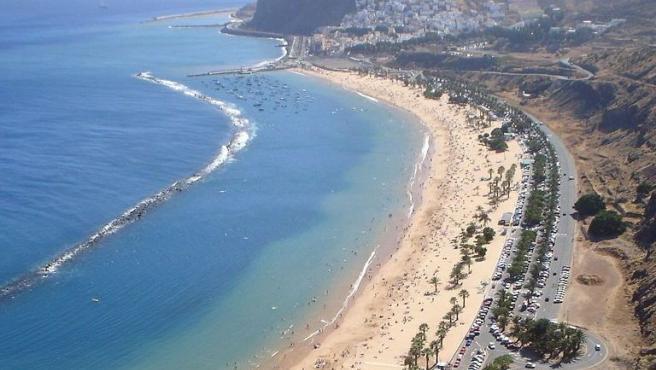 La playa de Las Teresitas, en Santa Cruz de Tenerife.