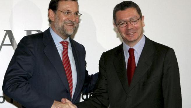 Imagen de archivo de Rajoy y Ruiz-Gallardón en el Foro ABC.